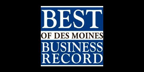 Des Moines Business Record's Best of Des Moines logo